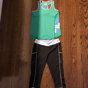 Girls FILA activewear outfit
